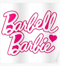 """Funny Quote """"Barbell Beauty"""" Poster"""