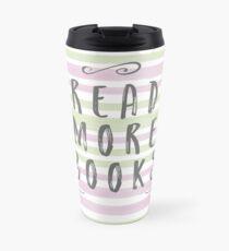 Read More Books - Watercolour Stripes Travel Mug