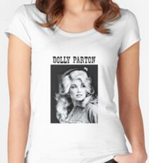 Dolly Parton Young Women's Fitted Scoop T-Shirt