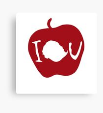 IOU Sherlock Apple Canvas Print