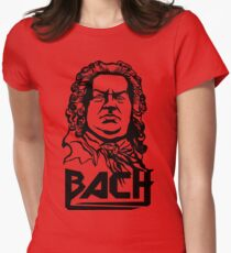Metal Bach (black) Women's Fitted T-Shirt