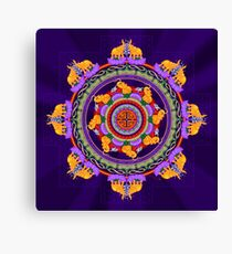 The Lu Mandala; Prosperity & Success Canvas Print