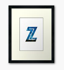 The Letter Z - Starry Night Framed Print