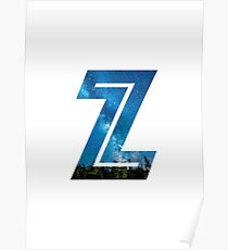 The Letter Z - Starry Night Poster