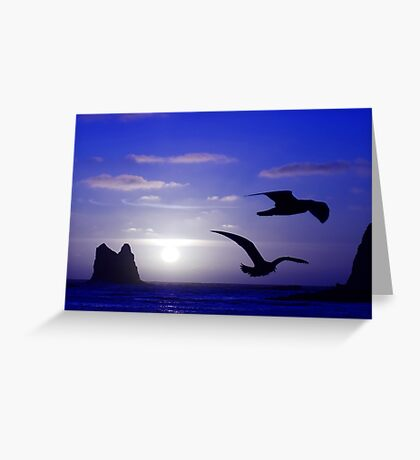 the double bird blues Greeting Card