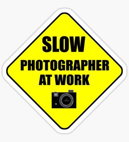 slow photographer Sticker