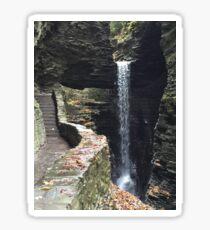 Watkins Glen State Park in New York , USA Sticker