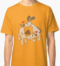 Dogs Sniffing Butts and Falling in Love Classic T-Shirt