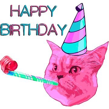 Happy Birthday Party cat by benbdprod