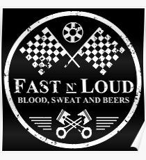 Fast and Loud, Inspired Gas Monkey. White. Poster
