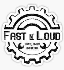 Fast and Loud, Inspired Gas Monkey. Black design. Sticker