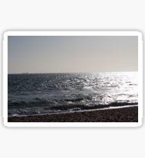 Brighton Beach Sunset Sticker