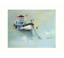 Seaton Rose and Gulls, Staithes Art Print