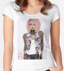 Tattooed Gurl Women's Fitted Scoop T-Shirt