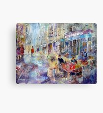 Al Fresco Cafe - Street Art Gallery Canvas Print