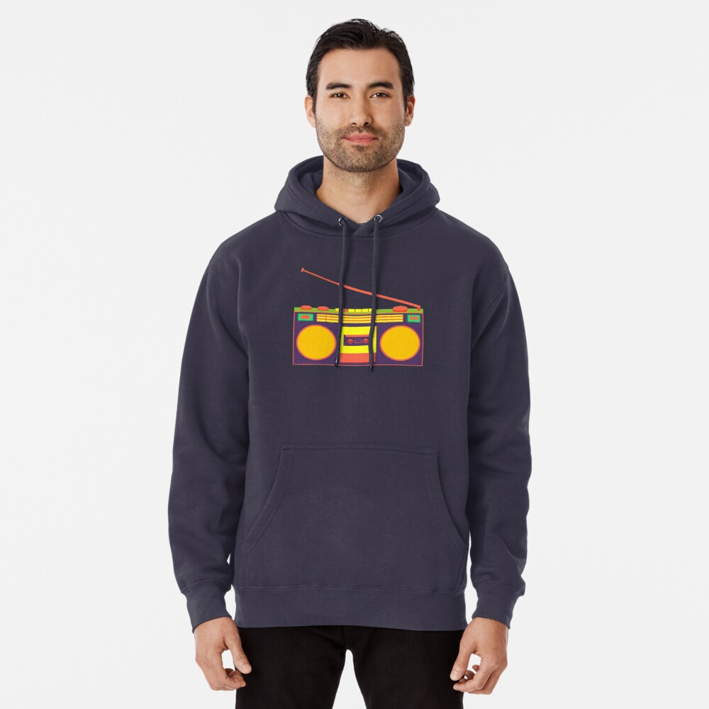 boombox - old cassette - Devices Pullover Hoodie