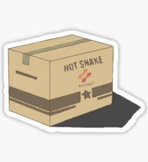 Solid snake box Sticker