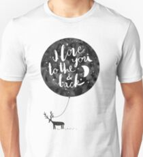 hand drawn cute illustration with a deer, ballon and text Unisex T-Shirt
