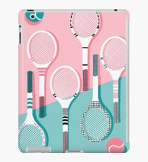 Got Served - tennis country club sports athlete retro throwback memphis 1980s style neon palm spring iPad Case/Skin