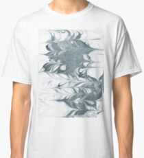 Haru - abstract spilled ink painting minimal indigo inky splash swirl ocean waves water surfing map maps Classic T-Shirt