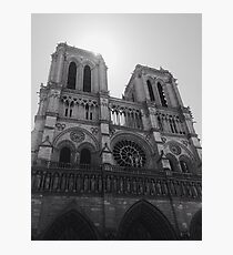 Black and White Notre Dame Photographic Print