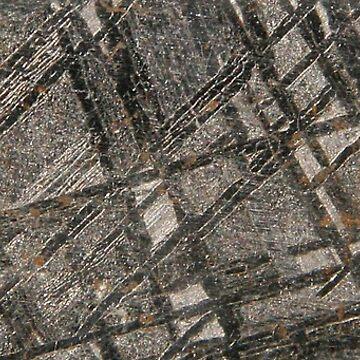 Iron Meteorite Widmanstätten pattern by abigailryder