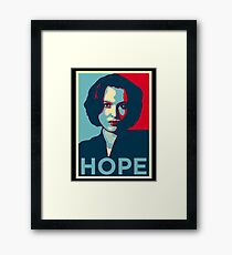 DANA SCULLY HOPE Framed Print