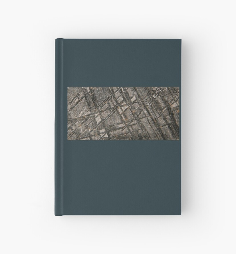 Iron Meteorite Widmanstätten Pattern Hardcover Journals By Mesmerizing Widmanstatten Pattern