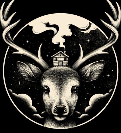 Deer Home Sticker