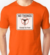 No Thongs Except on Feet Sign, San Francisco, California T-Shirt