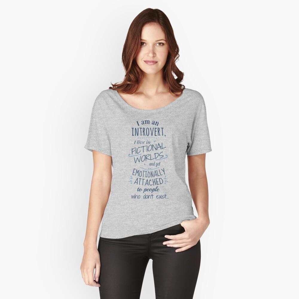 mundos introvertidos, ficticios, personajes ficticios Camiseta ancha