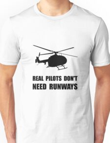 Helicopter Pilot Runways Unisex T-Shirt