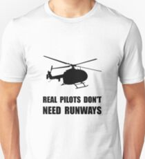 Helicopter Pilot Runways Unisex T-Shirt