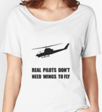 Helicopter Pilot Wings Women's Relaxed Fit T-Shirt