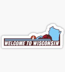 Welcome to Wisconsin, Road Sign, USA  Sticker