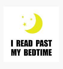 Read Past Bedtime Photographic Print