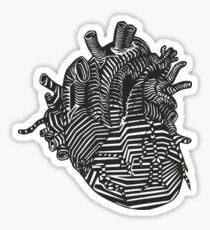 Art Heart (Black&White) Sticker