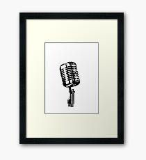 mic Framed Print