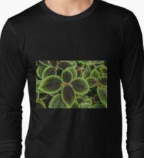 Green Ric Rac Edging Long Sleeve T-Shirt