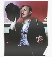 mark gatiss and his tophat Poster