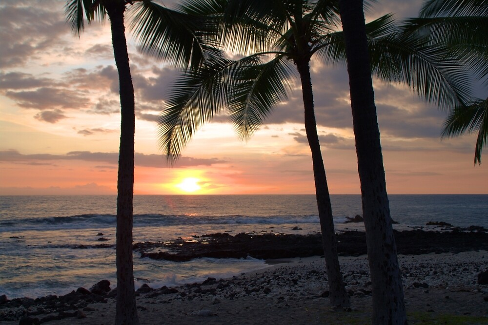 Hawaiian Coastline Sunset - Kona, Hawaii by Brian Harig