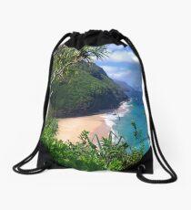Hanakapiai beach Drawstring Bag