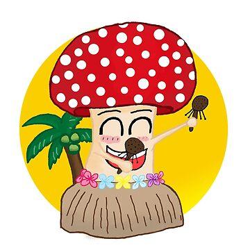 Aloha Mushroom by JustStephanie