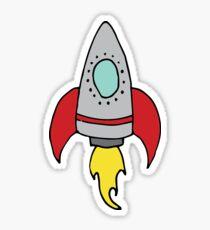 Rocket Ship Sticker