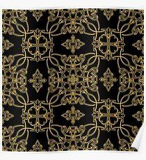 gold vintage pattern Poster