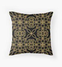 gold vintage pattern Throw Pillow