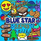 Blauer Stern von Corey Paige Designs