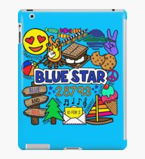 Blauer Stern iPad-Hülle & Klebefolie