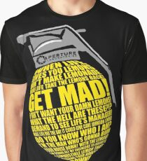 Portal 2 Cave Johnson Combustible lemon quote Graphic T-Shirt