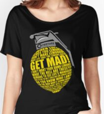 Portal 2 Cave Johnson Combustible lemon quote Women's Relaxed Fit T-Shirt